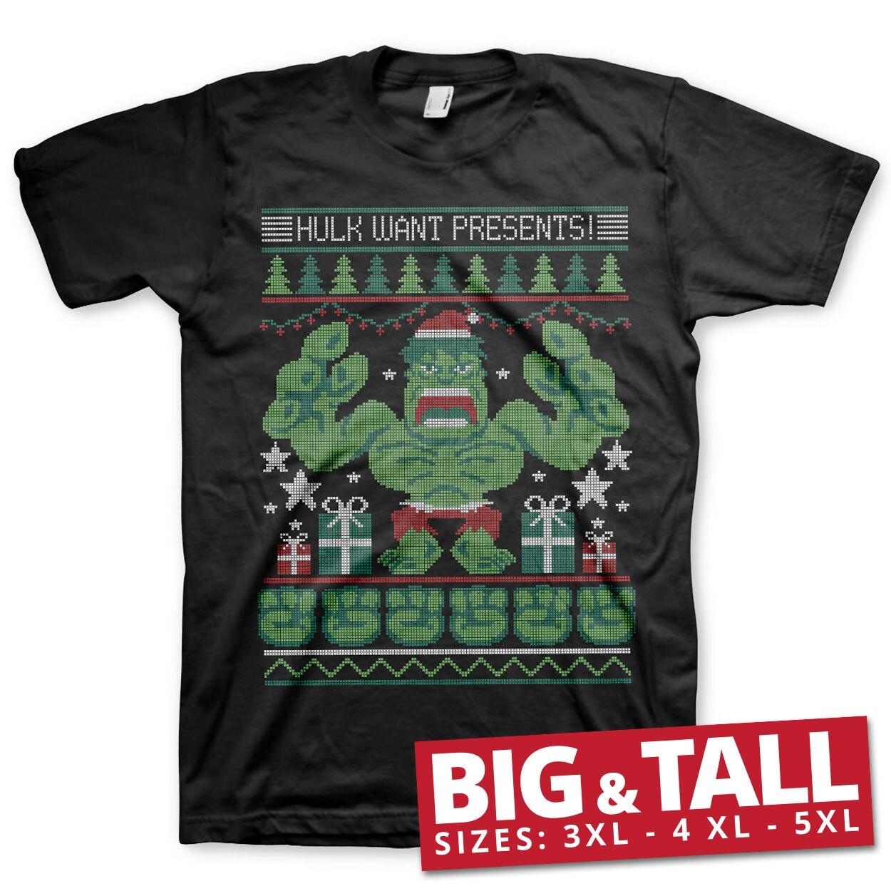 Hulk Want Presents! Big & Tall T-Shirt