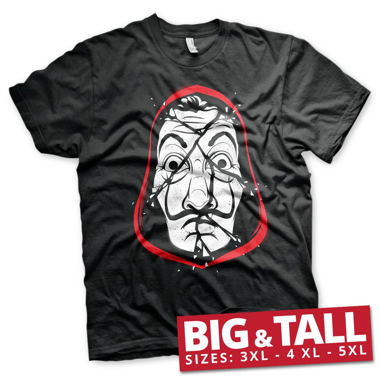 La Casa De Papel Cracked Mask Big & Tall T-Shirt