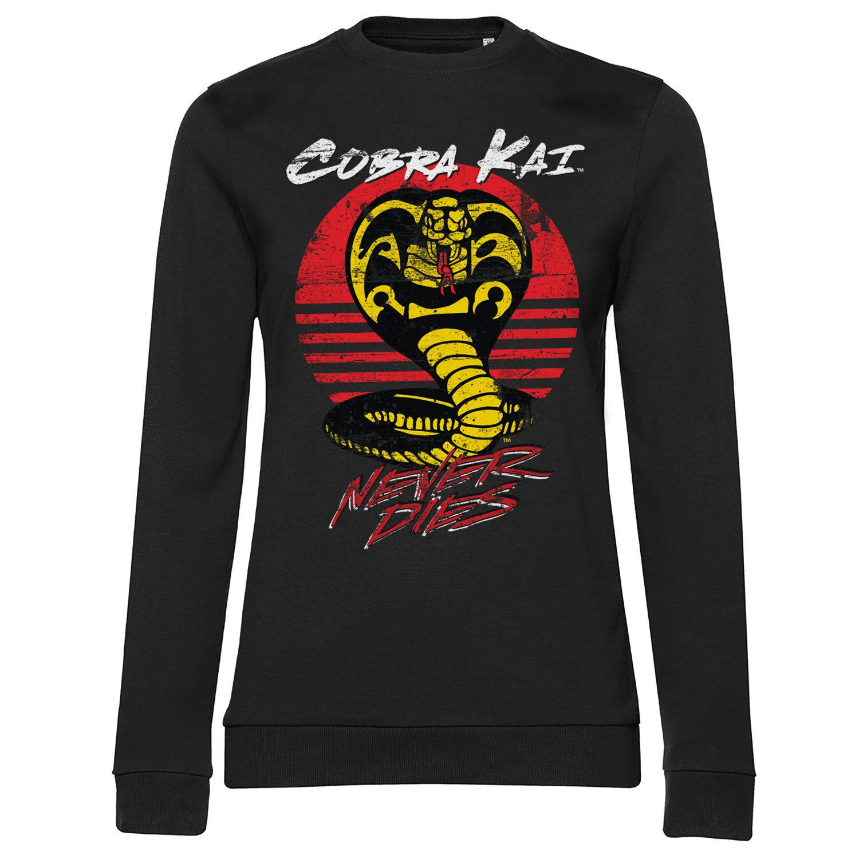 Cobra Kai Never Dies Girly Sweatshirt