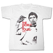 Scarface_World_Yours_White_Shirt2